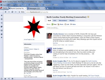 North Carolina Yearly Meeting (Conservative) on Facebook