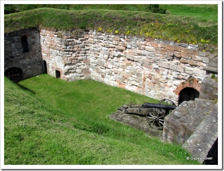 One of many gun emplacements around the walls of Berwick upon Tweed.