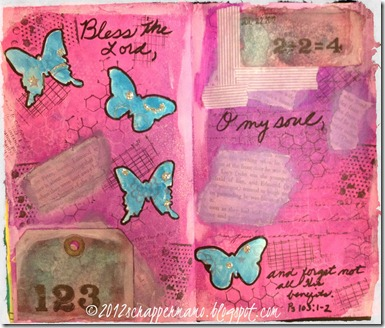 bless the lord journal page w border
