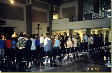 #7 9-8-2002 One Side of Congregation at Launch