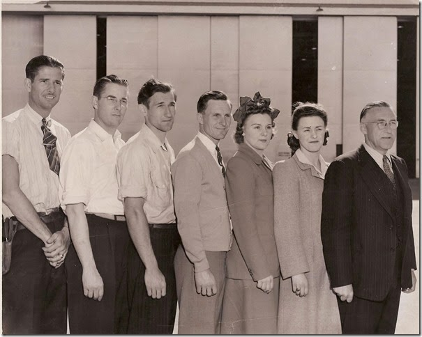 FINK Family & Floyd BROWN_in photo when they all worked at General Dynamics_circa 1940s_San Diego CA
