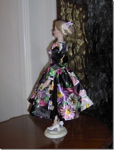 Grace Kelly Black Print Dress 8