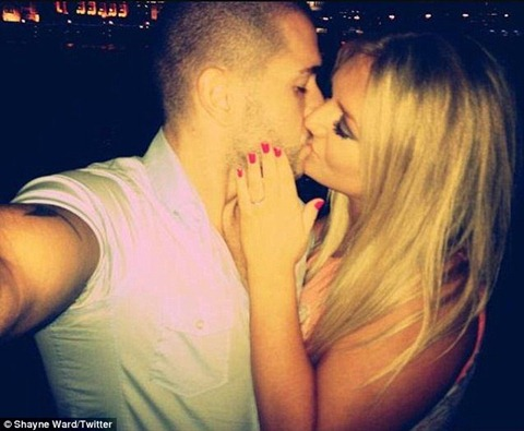 Shayne Ward Kissing his Girl Friend Faye McKeever