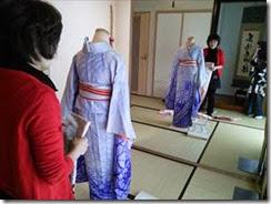 美容師さんの着付け教室 (1)