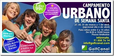Campamento Urbano GolfCanal Semana Santa 2015 en pleno centro de Madrid.