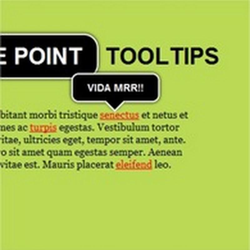 Cómo crear un tooltip usando jQuery y CSS