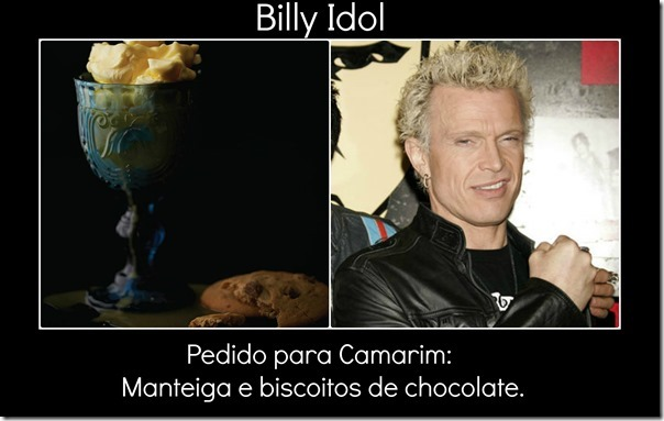 Billy Idol e pedido