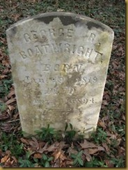 George R. Boatwright Tombstone