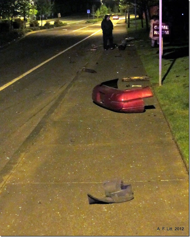 Drunk driver crash and run.  Powell Blvd.  Gresham, Oregon.  May 9, 2012.  12:15 AM.