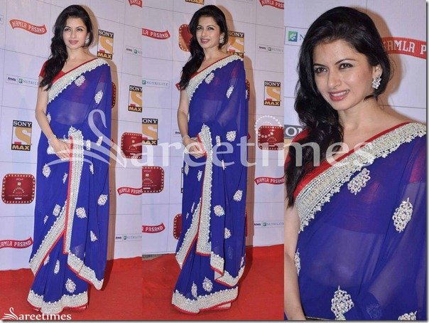 Bhagyashree_Blue_Georgette_Saree