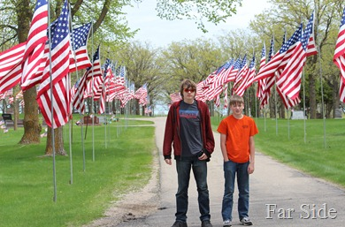 Noah and Adam at the Avenue of Flags
