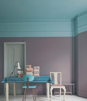 soffitto colorato farrow & ball