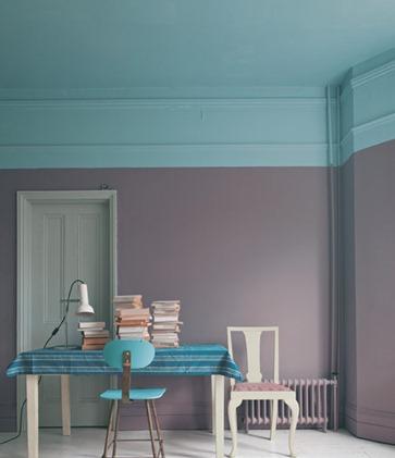 soffitto colorato farrow & ball