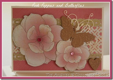 Pink Poppies and Butterflies