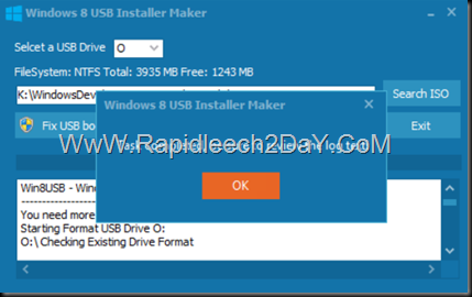 steps-Windows 8 USB Installer Maker - figure 6