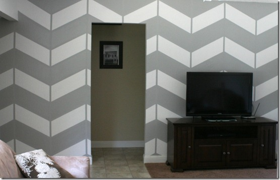 living room project, herringbone wall (15)
