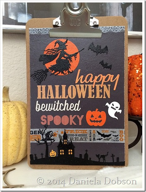 Halloween clipboard art 2 by Daniela Dobson