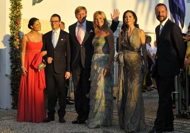 De izquierda a derecha, Victoria y Daniel de Suecia, Guillermo y Máxima de Holanda, Mary de Dinamarca y Haakon de Noruega