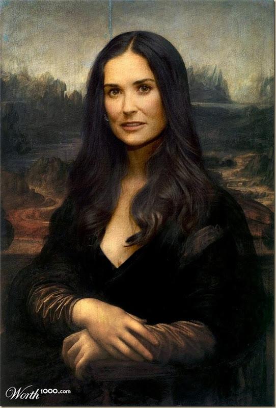 Demi Moore Monalisa