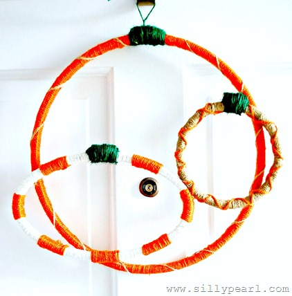 Pumpkin Embroidery Hoop Wreath by The Silly Pearl
