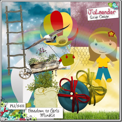 "Freebie ""Freedom to Girls MiniKit"""