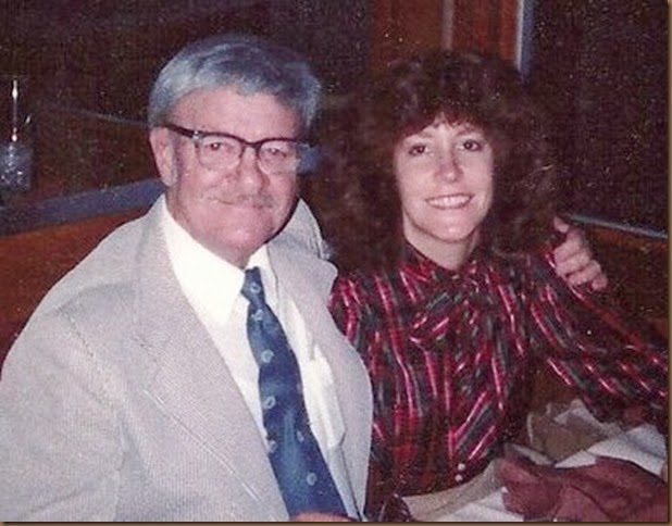 GOULD_Diane with her Dad Harry Norman Gould on her birthday in 1981