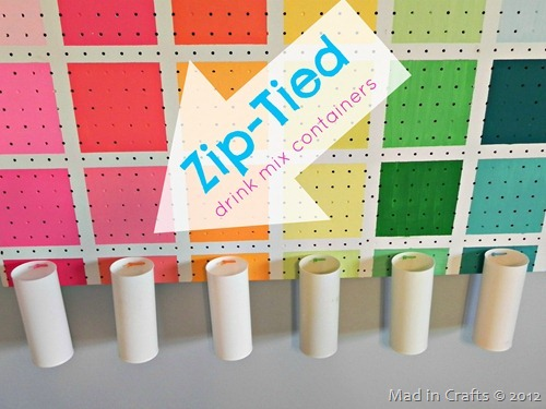 Project Runway Inspired Colorful Pegboard Mad in Crafts