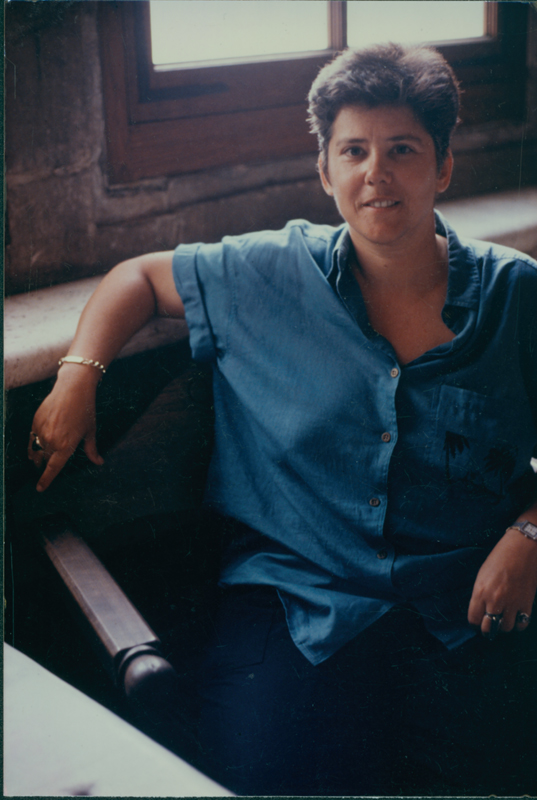 Jeanne Cordova at the Vatican Museum during a trip through Europe. 1992.