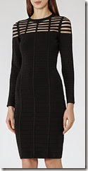 Reiss Black Cutout Detail Dress