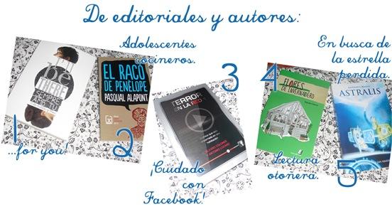 de editoriales y autores