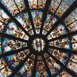 In the Empress by Cory Bohnenkamp - Buildings & Architecture Architectural Detail ( glass, victoria, hotel, empress hotel, stained glass )