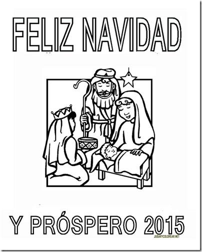 FELIZ NAVIDAD Y PROSPERO AÑO NUEVO 2015 eCOLOREAR 1 2
