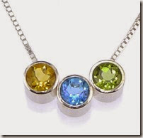 December Birthstone Necklace from single up to five stones