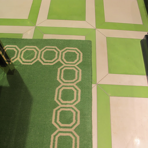 More green–the floor tiles were so fabulous.