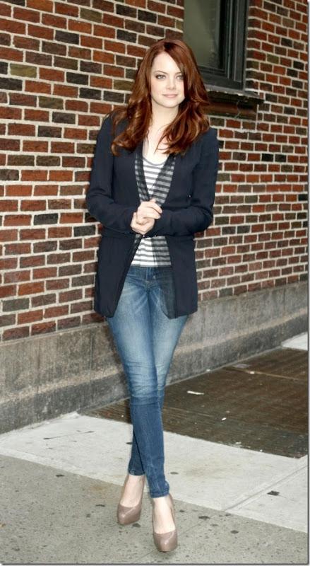 Emma Stone Blue Jeans