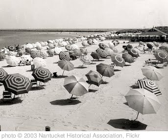 'Cliffside Beach Umbrellas, 1950s.' photo (c) 2003, Nantucket Historical Association - license: http://www.flickr.com/commons/usage/