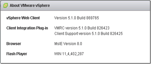 vSphere Web Client Version after upgrade
