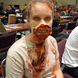 perfectly executed zombie at FANexpo in Toronto, Ontario, Canada