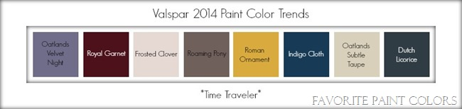Valspar 2014 paint color trends - time traveler