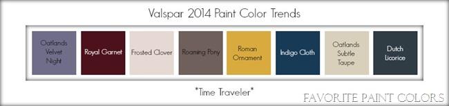 Valspar 2014 paint color trends - time traveler