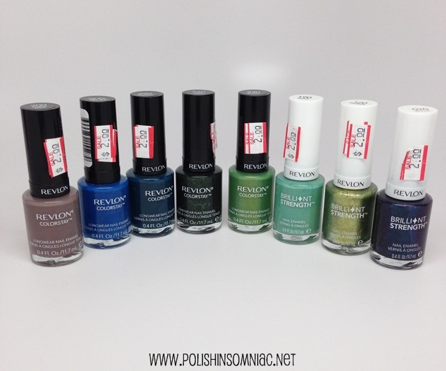 Revlon Colorstay and Brilliant Strength polishes