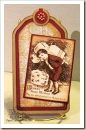 verry merry vintage boy tag
