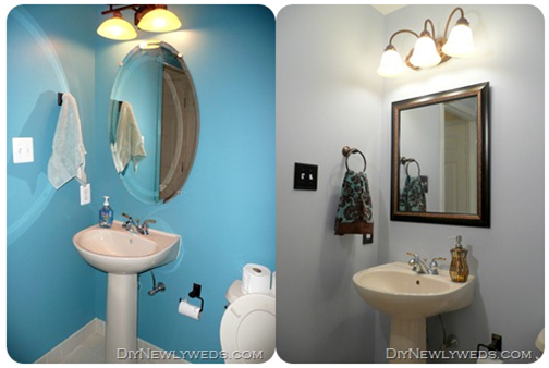 Inexpensive Bathroom Makeover Update