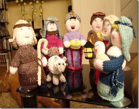 Knitting Patterns Christmas Figures : Knitting Dragonflies: Knit a Nativity Set