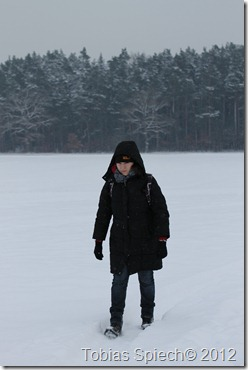 Christina Staudigl im Schnee