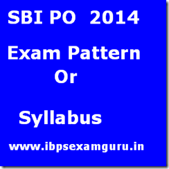 SBI PO Exam Pattern- PO Syllabus 2014