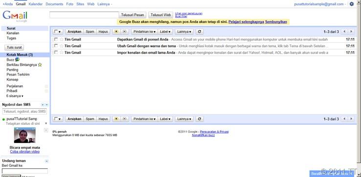 email Gmail anda sudah jadi