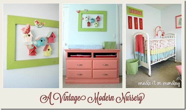 Vintage Modern Nursery