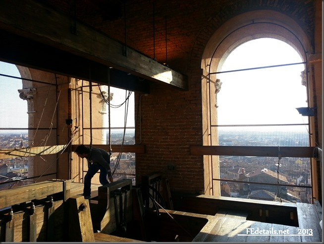Dentro il campanile del Duomo di Ferrara - Inside the bell tower of the Cathedral of Ferrara, Italy, photo3