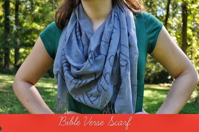Bible Verse Scarf